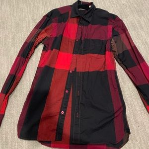 Burberry Tops - Burberry check collared shirt - women's size xs